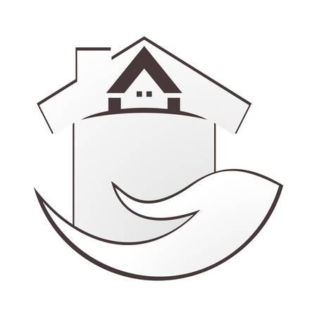 icone immobilier: ic�ne de l'immobilier Illustration