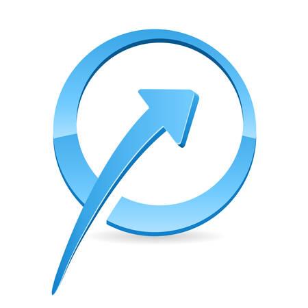 trending: trend, arrow icon  Illustration
