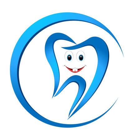 higiene bucal: diente sonriente Vectores