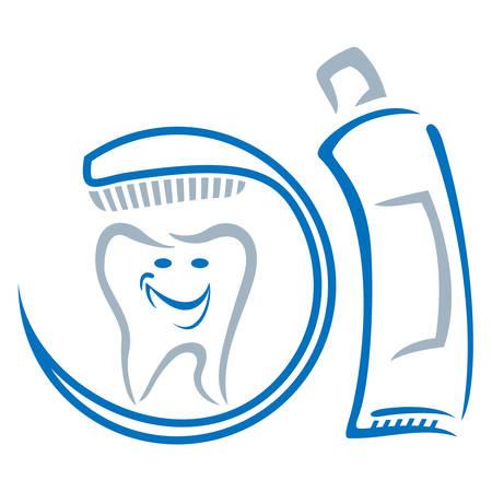 prophylaxe: Zahnmedizin Symbol