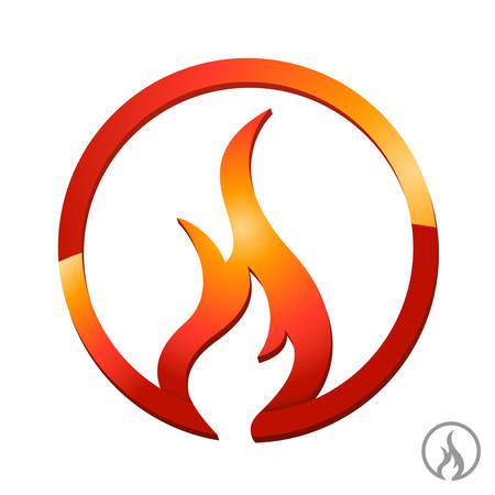 ogień, płomień ikona Ilustracje wektorowe