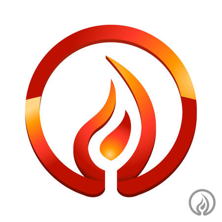and heating: fire, flame icon
