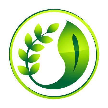 environmentally: green eco icon