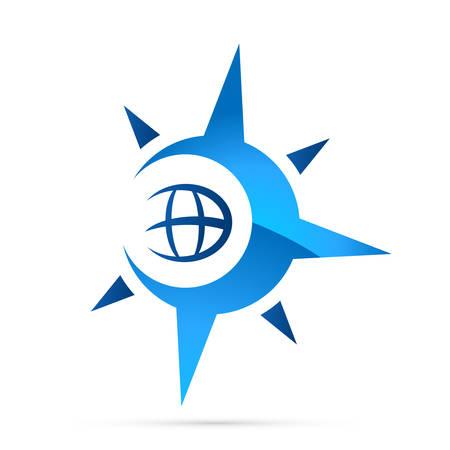 iránytű, navigációs ikon Illusztráció