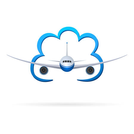 liftoff: airplane and cloud
