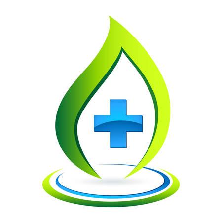 Grüne Apotheke Symbol Standard-Bild - 24912486