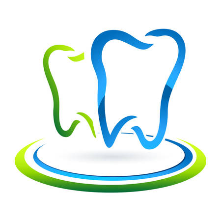 dent: dental care sign  Illustration
