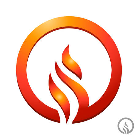 gas flame: fire, flame icon