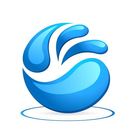 water drops - icon Ilustração