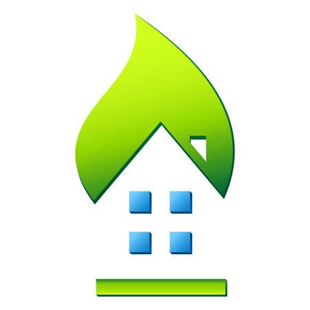 housetop: eco friendly house - real estate icon