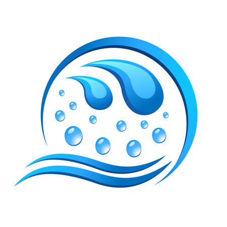 waterworks: water icon Illustration