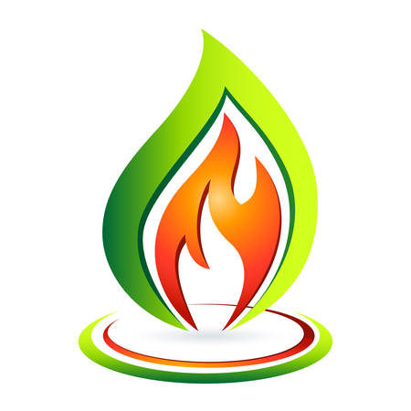 gas flame: ecological gas