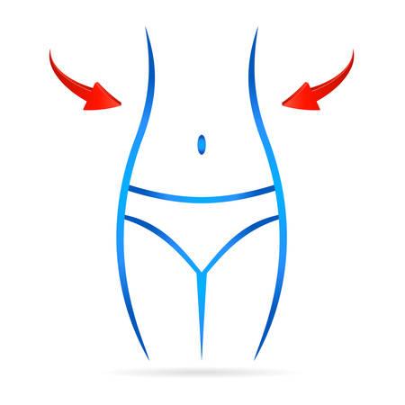 waist: slender waist