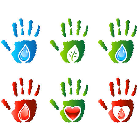 hands - icon set Vector