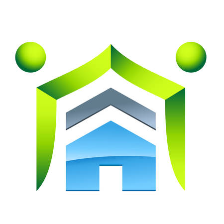 housetop: eco friendly house - real estate icon