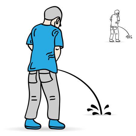 peeing man - sign, symbol