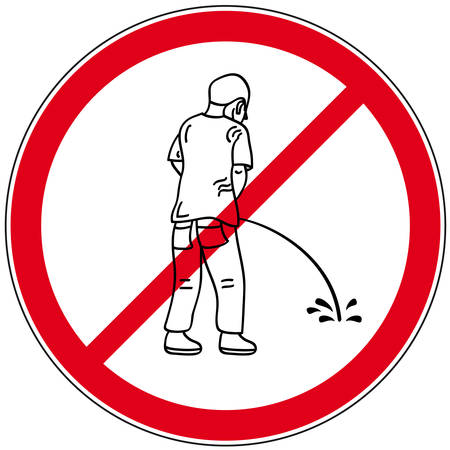 prohibited pee symbol