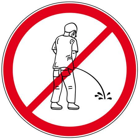 pis: símbolo pee prohibida
