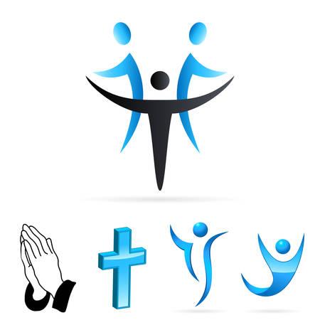 divine: mensen van het geloof Stock Illustratie