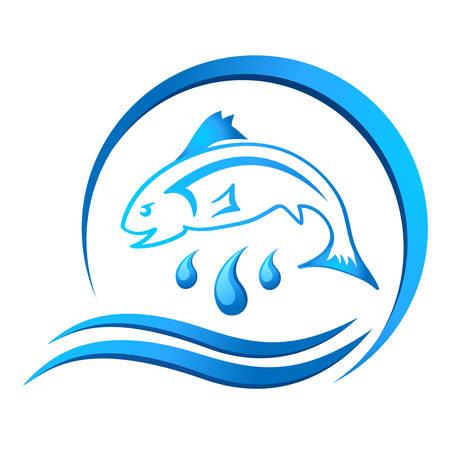 fishing icon Stock Illustratie
