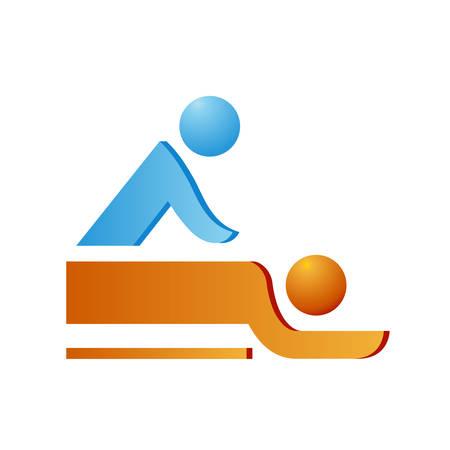 fisioterapia: masaje - s�mbolo