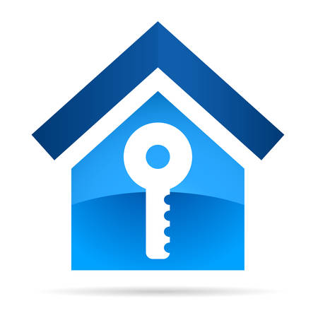 home icon: home key real estate  icon