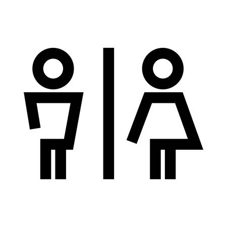 washroom: toilet - icon, symbol Illustration