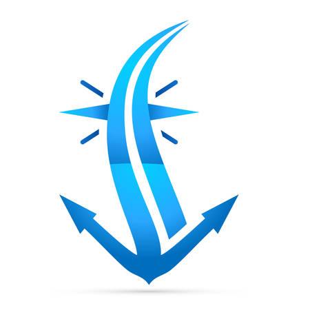 sailing boats: navy anchor - icon symbol