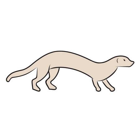 weasel: marten, weasel - illustration Illustration