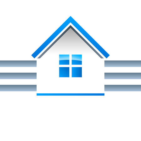 leasing: real estate, house - vector icon