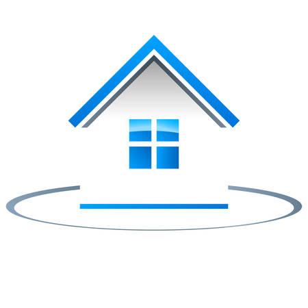 Immobilier, maison - vecteur icône Vecteurs