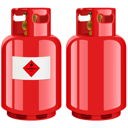 compressed gas: propane gas cylinder