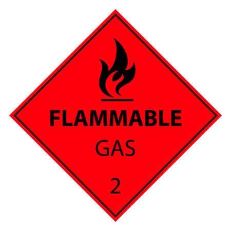 explosive gas: flammable gas sign Illustration