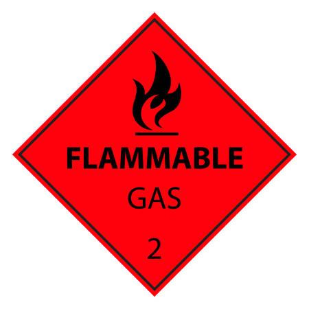 signos de precaucion: signo de gas inflamable Vectores