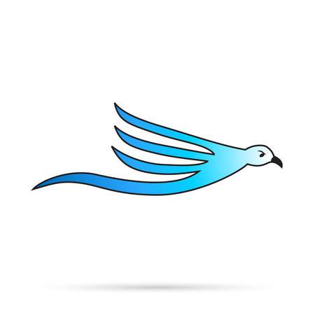 gabbiano uccelli - icona del vettore
