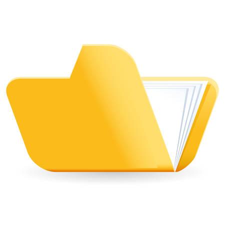 carpeta: icono de la carpeta de archivos de color amarillo