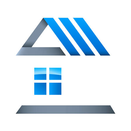 housetop: real estate - vector icon