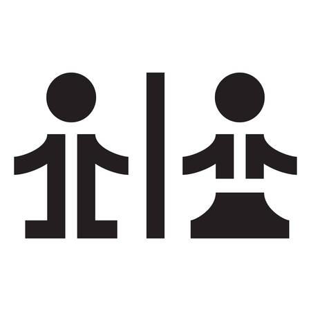 simbolo uomo donna: WC - icona, simbolo Vettoriali