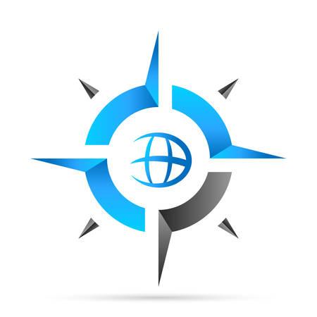 コンパス ナビゲーション アイコン  イラスト・ベクター素材