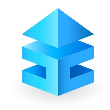 brokerage: 3D real estate icon