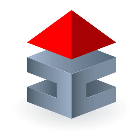 housetop: 3D real estate icon