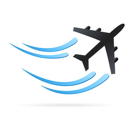 aereo: aeroplano - icona del vettore