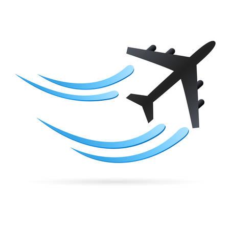 plane: airplane - vector icon