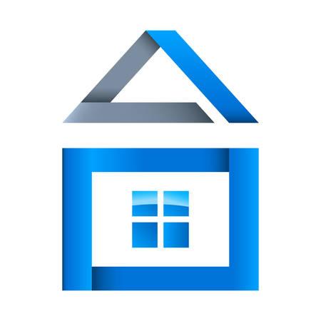 logo batiment: icône de l'immobilier Illustration