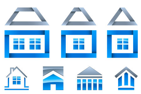leasing: real estate - icon set