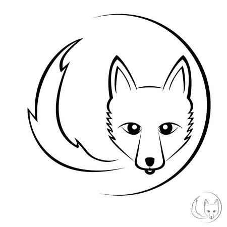 Icono del zorro Foto de archivo - 52182274