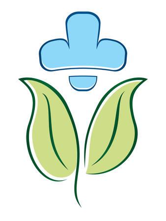 simbolo medicina: medicina natural - símbolo de la salud