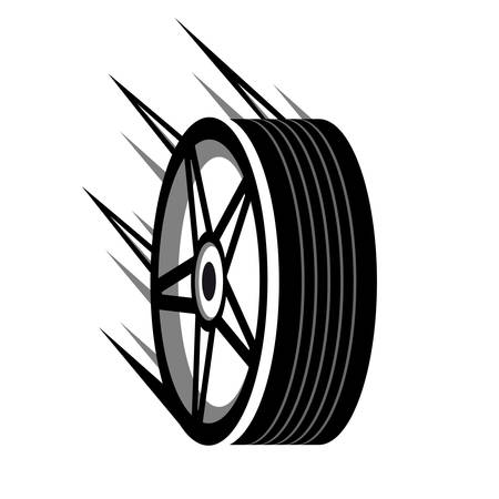 flat tire: faster tire store - icon
