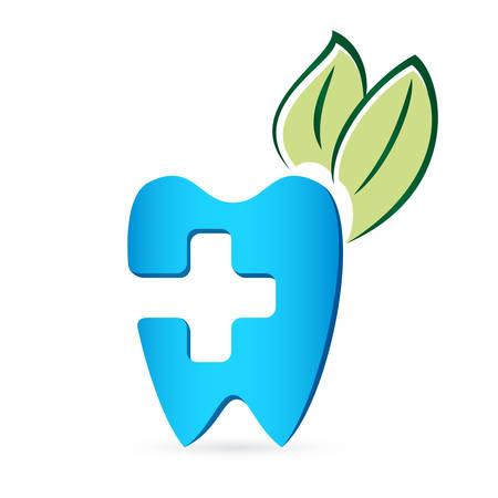 medical symbols: dentist  design with tree leaves - illustration Illustration