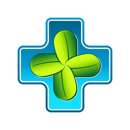 homeopathy: homeopathy or pharmacy symbol  illustration Illustration